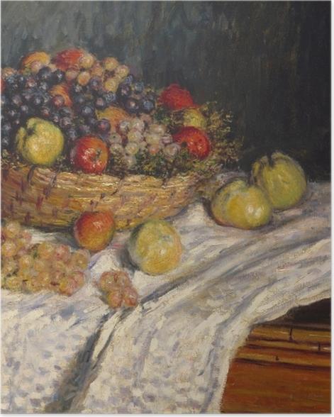 Plakat Claude Monet - Jabłka i winogrona - Reprodukcje