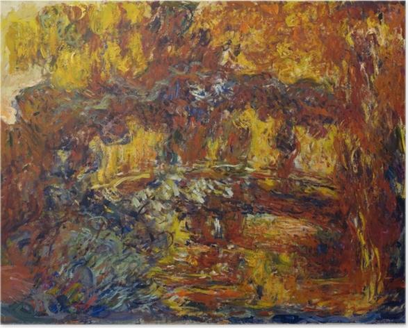 Plakat Claude Monet - Japoński mostek - Reprodukcje