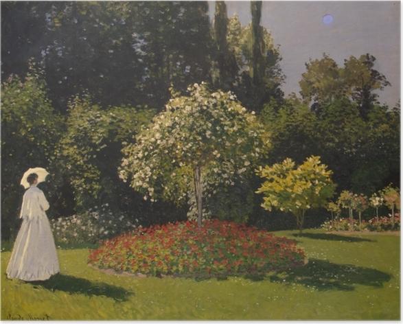 Plakat Claude Monet - Kobieta w ogrodzie - Reprodukcje