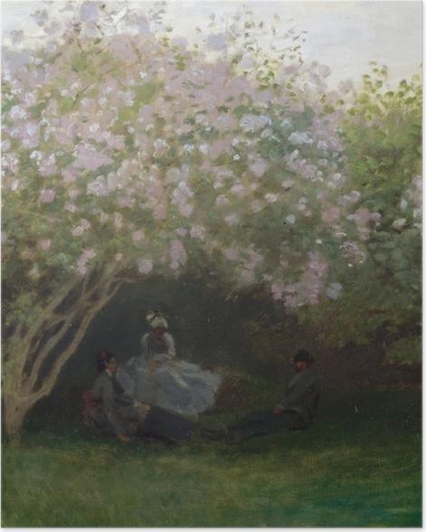 Plakat Claude Monet - Krzaki bzu w pochmurny dzień - Reprodukcje