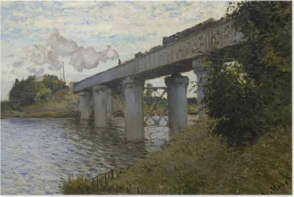 Plakat Claude Monet - Most kolejowy w Argenteuil - Reprodukcje