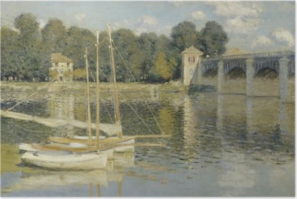 Plakat Claude Monet - Most w Argenteuil - Reprodukcje