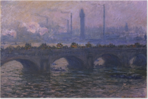 Plakat Claude Monet - Most w Waterloo - Reprodukcje