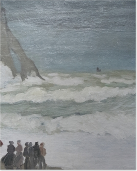 Plakat Claude Monet - Niespokojne morze w okolicach Etreat - Reprodukcje