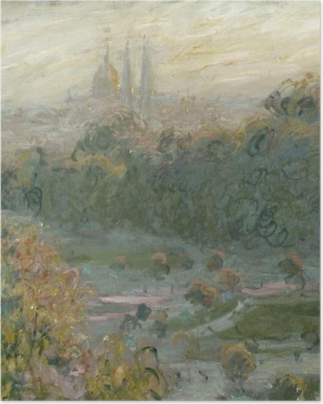 Plakat Claude Monet - Ogrody Tuileries (studium) - Reprodukcje