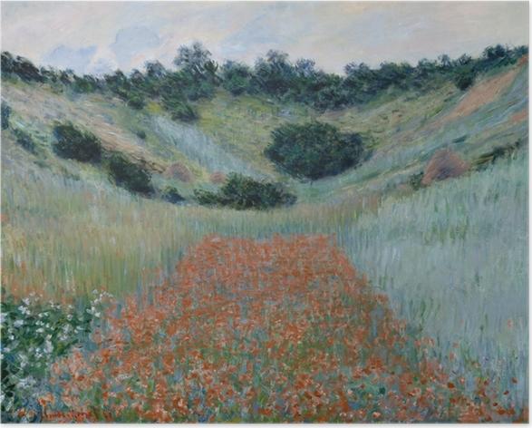 Plakat Claude Monet - Pole maków niedaleko Giverny - Reprodukcje