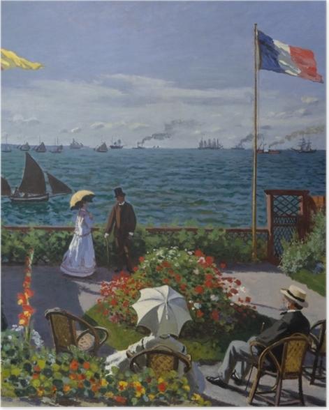 Plakat Claude Monet - Taras nad morzem w Sainte-Adresse - Reprodukcje