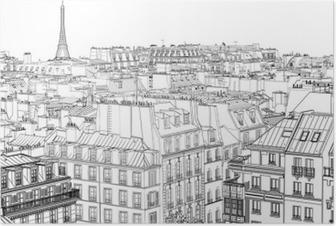 Plakat Dachy w Paryżu