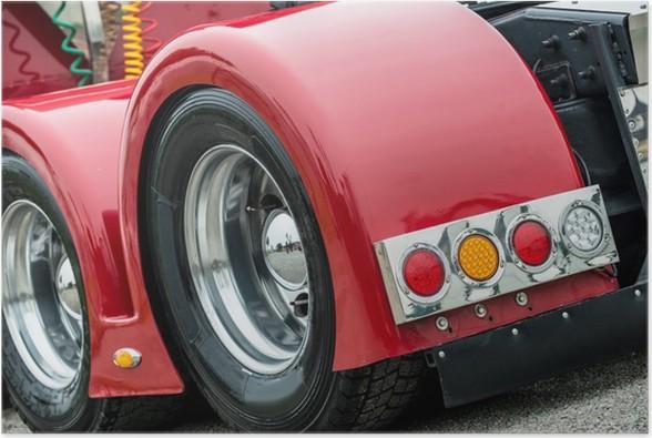 Plakát Detail truck - Na cestě