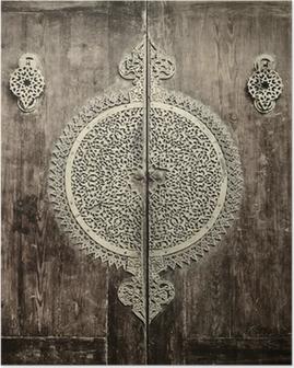 Plakat Dokładniejszy obraz z starożytnych drzwi