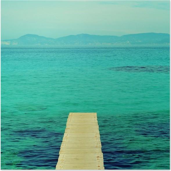 Plakát Dřevěný v Formentera, Baleárských ostrovů - Evropa