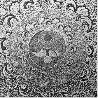 Plakat Drzewo życia Srebrnego Mandala