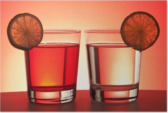 Plakát Dvě červené nápoje - Alkohol