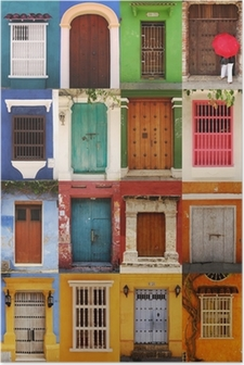Plakát Dveře Cartagena, Kolumbie
