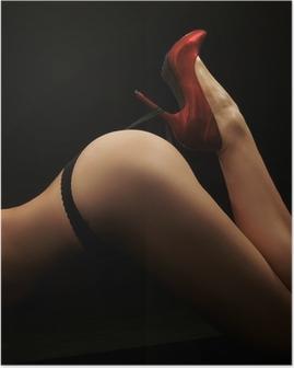 Plakat Dzieła sztuki zdjęcia kobiety tyłek