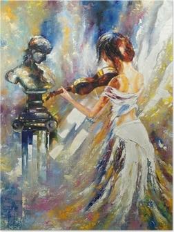 Plakat Dziewczyna gra na skrzypcach