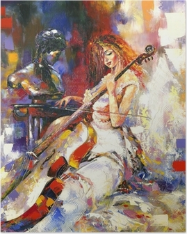 Plakat Dziewczyna i wiolonczela