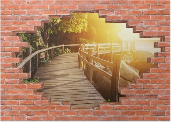 Plakat Dziura w murze - Tajlandia - Dziury w ścianie