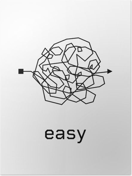 Plakat Easy - Motywacyjne