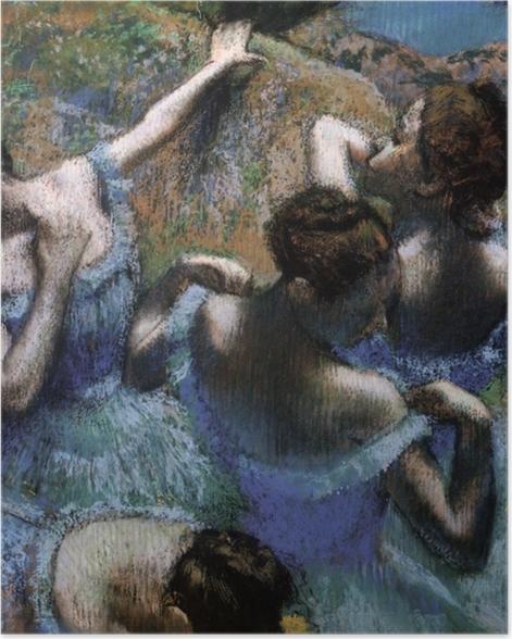 Plakat Edgar Degas - Błękitne tancerki - Reprodukcje