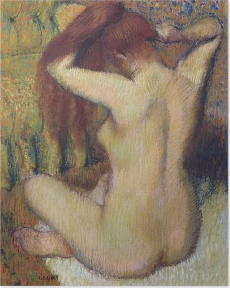 Plakat Edgar Degas - Czesząca się kobieta - Reprodukcje