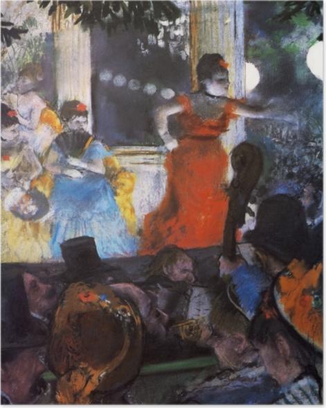 Plakat Edgar Degas - Koncert w kawiarni Aux Ambassadeurs - Reprodukcje
