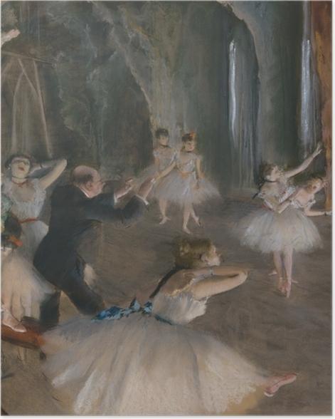 Plakat Edgar Degas - Próba baletowa na scenie - Reprodukcje