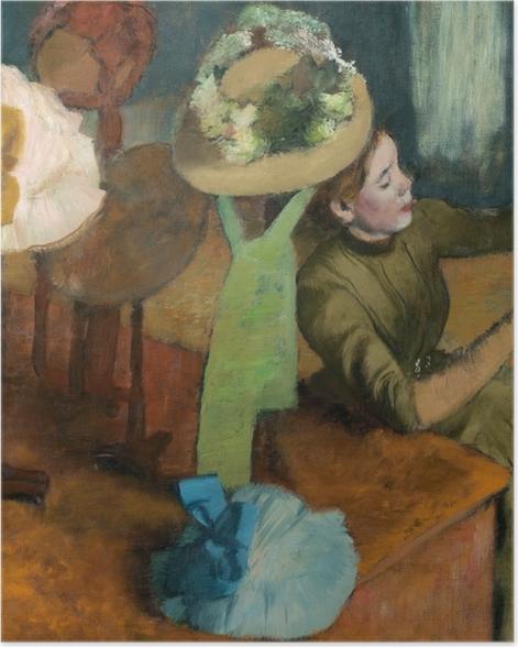 Plakat Edgar Degas - Sklep z kapeluszami - Reprodukcje