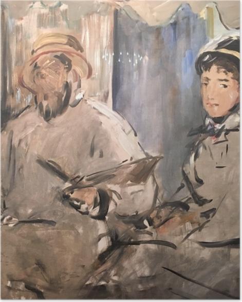 Plakat Édouard Manet - Monet w swym pływającym studio - Reproductions
