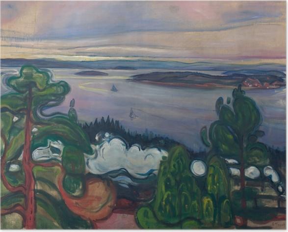Plakat Edvard Munch - Dym pociągu - Reprodukcje