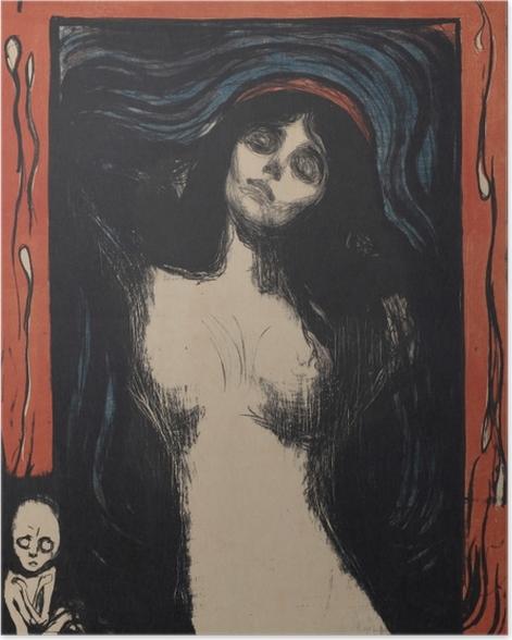 Plakat Edvard Munch - Madonna - Reprodukcje