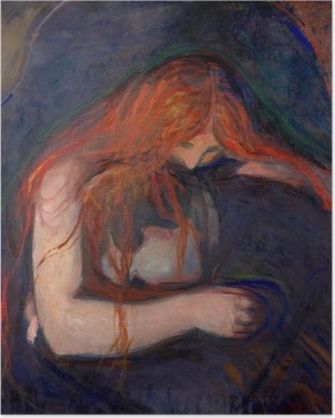 Plakat Edvard Munch - Wampir - Reprodukcje