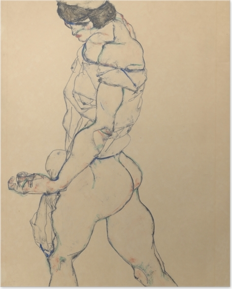 Plakat Egon Schiele - Atletka - Reprodukcje