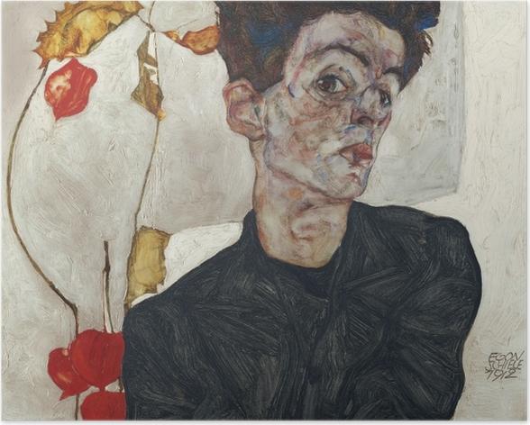 Plakat Egon Schiele - Autoportret - Reprodukcje