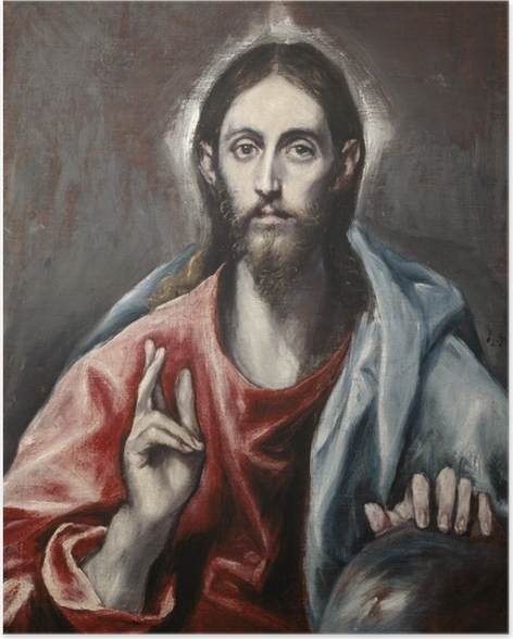 Plakat El Greco - Chrystus jako Zbawca - Reprodukcje