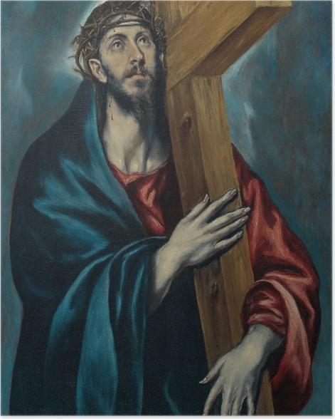Plakat El Greco - Chrystus niosący krzyz - Reprodukcje