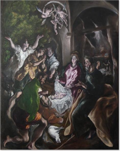 Plakat El Greco - Pokłon pasterzy - Reprodukcje