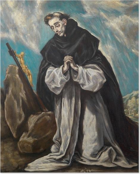 Plakat El Greco - Św. Dominik pogrążony w modlitwie - Reprodukcje
