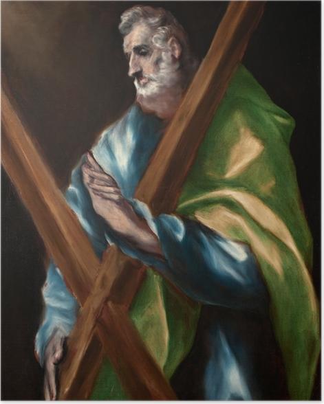 Plakat El Greco - Święty Andrzej - Reprodukcje
