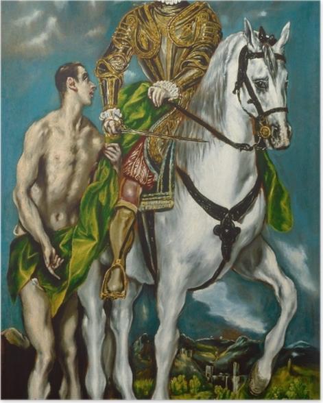 Plakat El Greco - Święty Marcin i żebrak - Reprodukcje