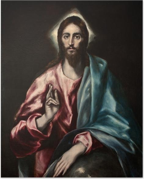 Plakat El Greco - Zbawca Świata - Reprodukcje