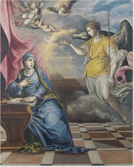 Plakat El Greco - Zwiastowanie - Reprodukcje