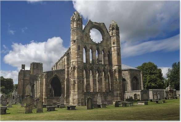 Plakát Elgin Cathedral Ruins & hřbitov - Evropa