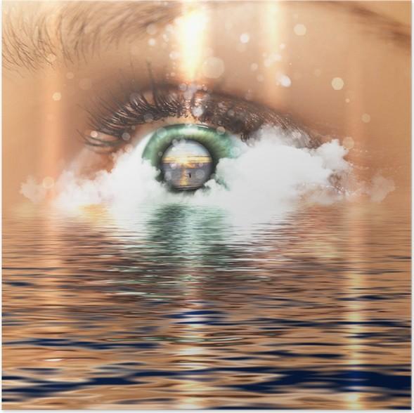 Plakát Eye s výhledem na vodní scénický - Témata