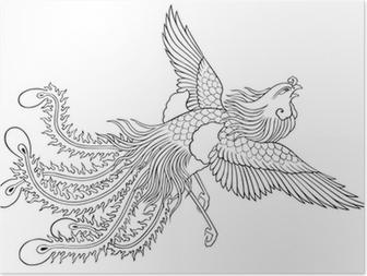 Plakat Tribal Tatuaż Feniks Pixers żyjemy By Zmieniać