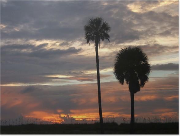 Plakát Fort DeSoto, Florida Sunset - Voda