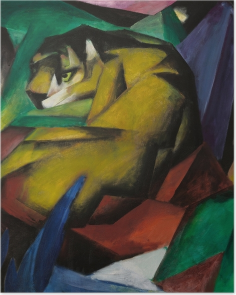 Plakat Franz Marc - Tygrys - Reproductions