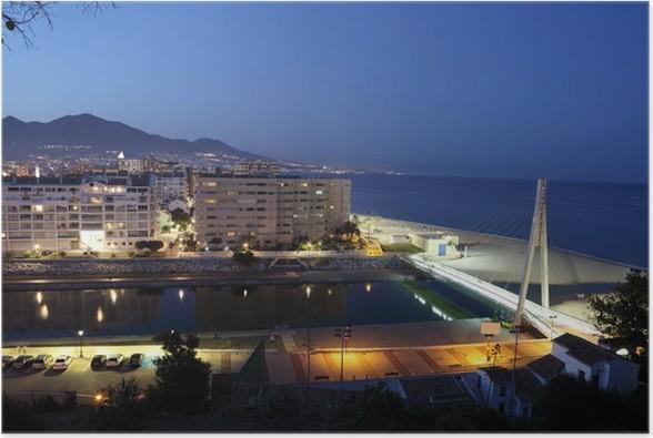 Plakát Fuengirola za soumraku. Costa del Sol, Andalusie Španělsko - Evropa