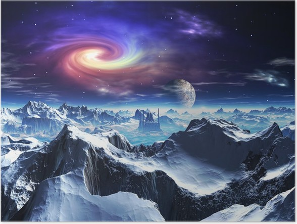 Plakát Futuristický chrám na cizinecké Ice World - Témata