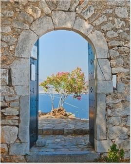 Plakát Gate v Palamidi pevnost, Nafplio, Řecko